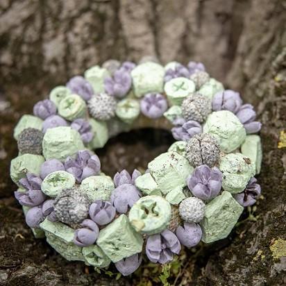 KB virágálmok díszek szárazvirágból